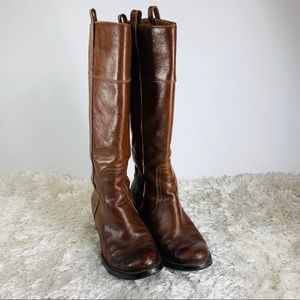 Lucky Brand Brown Leather Riding Boots Sz 8.5-9